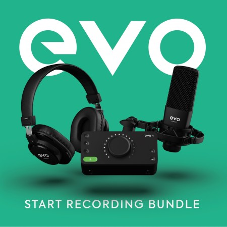 Audient EVO Start Recording Bundle - 2x2 USB/iOS Recording System